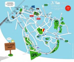 Parcours 20km de Bruxelles 2012